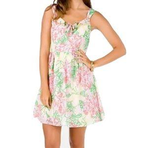 LILLY PULITZER Mariposa Peggy Dress Size 12 Ruffle